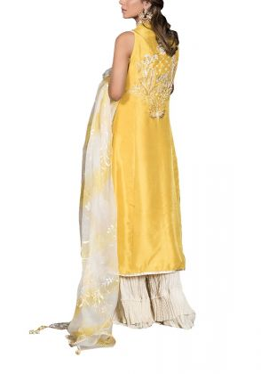3-piece Yellow Meraki  Set by Fatima Ashar