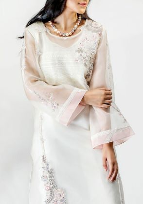 White Ambrosia Shirt  by Farida Hasan