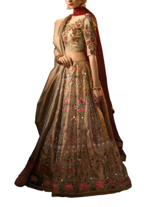 Antique Gold Suit by Fatima Ashar