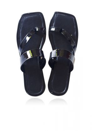 Black Patent Summer Slides by Basic by Chapter13