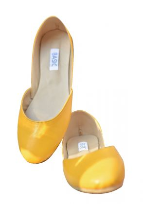 Yellow Ballerina Flats by Basic by Chapter13