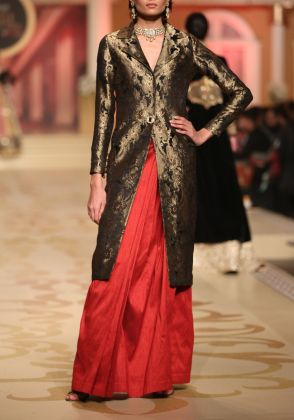 Banarsi Jacket & Skirt by Maheen Taseer | MGT