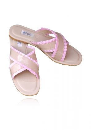 Nude Criss Cross Slides by Basic by Chapter13