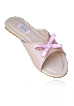 Nude Bow Slides by Basic by Chapter13