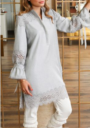 Basic Fh - 1 Piece Viscose Cotton Shirt by Farida Hasan