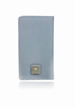 Bir-Long passport Holder in Grey and Orange by Coal