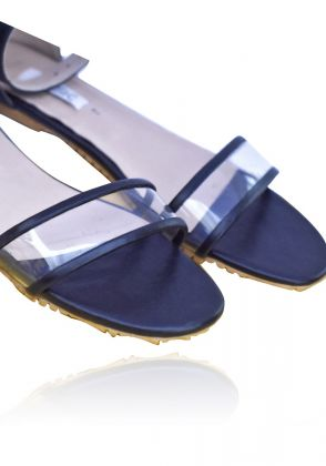 Clear acrylic summer sandals  by Basic by Chapter13
