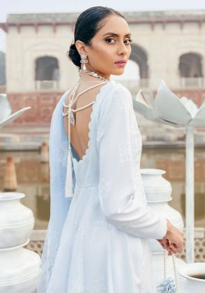 Ice Blue  Embroidered Unstitched Suit  by Panachē Luxury Lawn