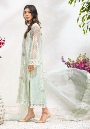 Dainty Floral Mint by Farida Hasan