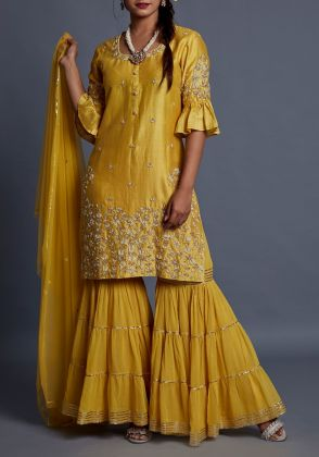 Gharara suit yellow by Suchita's Stylista