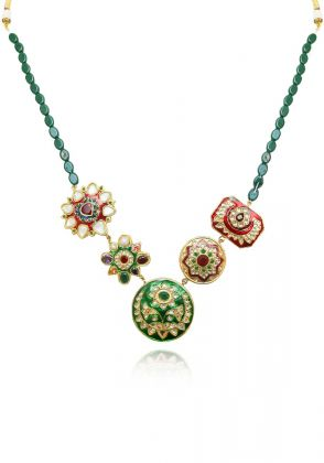 Multi Meena Kari Necklace by Gorgeous Jew