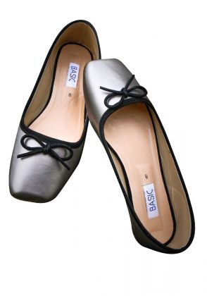 Grey Flats with Bow by Basic by Chapter13