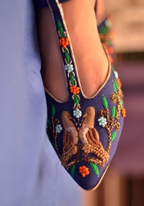 Hand Embroidered Pointed Flat by Chapter 13