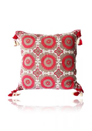 Pink Sun Cushion by Indus Heritage Trust