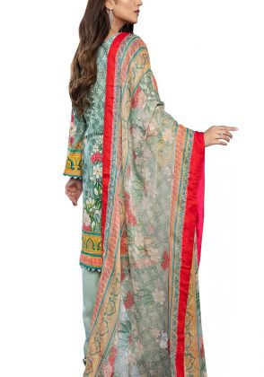 Light Green Unstitched Lawn Suit by Iqra Reza