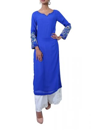 Signature Sleeves Kurta   by Imra Saeed