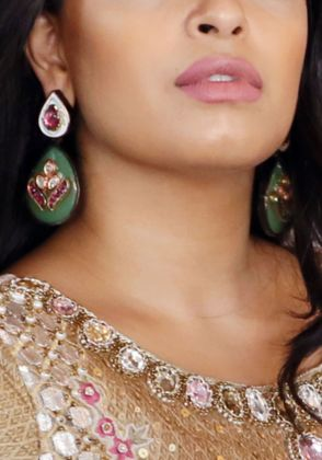Jade Earrings by Hina Zafar