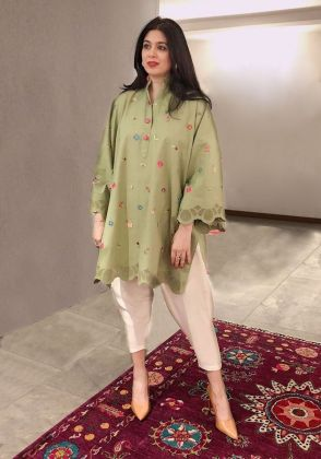 TEARS OF JOY TUNIC Green by Kavalier