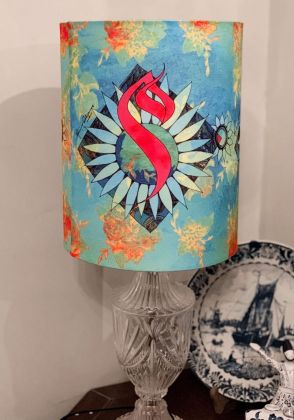 Meem Lampshade by Mina Siddique