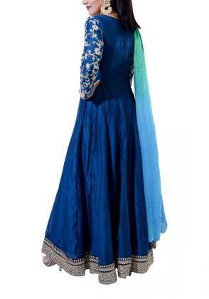 Anarkali with Embroidered Sleeves by Miniaar