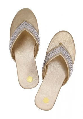 Fida Gold by Nadiya Kassam Shoes