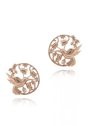 Piece Of Paradise Earrings Rose Gold by Opalina