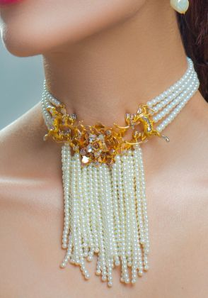 Pearly Grandeur Choker by Rema Luxe