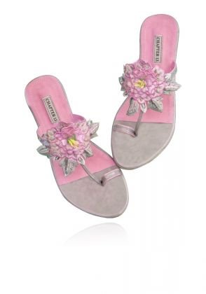 Pink Phool Chappal by Chapter 13