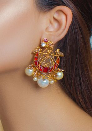 Royal Crest Earrings by Rema Luxe