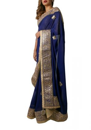 Royal Blue Saree  by Suchita's Stylista