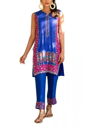 Contrast  Mirror Worked Tunic by Sarah Anees