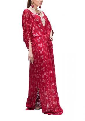 Red Wine Kaftan by Sophia
