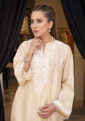 PURE SILK  KURTA by Sophia