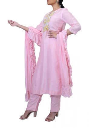 Powder Pink Suit by Suchita's Stylista