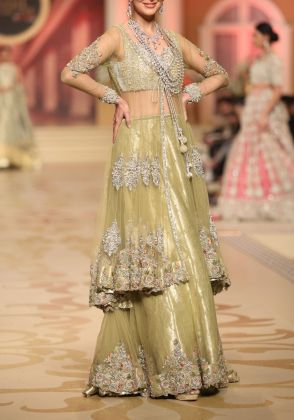Tulle Net Jacket On Lehenga-Choli