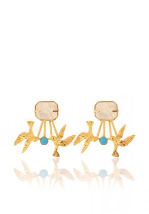 Two Birds One Stone Earrings