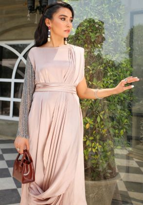 Sumptuous Draped Gown by Vanya