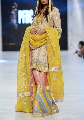 White & Yellow Chatapatti Bridal by The House of Kamiar Rokni