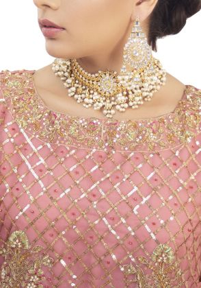 Pink Beauty Formal Suit by Zohaib Qadeer