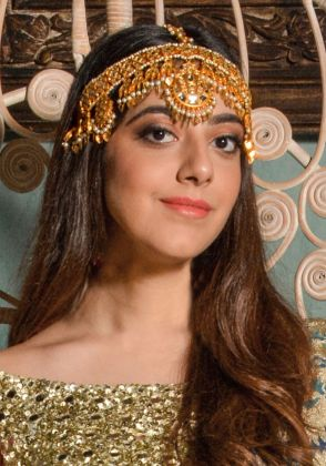 Hand Made Gold Plated Head Piece by Gorgeous Jew