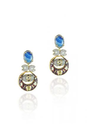 Agate Earrings by Hina Zafar