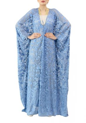 Blue Bisht with Self Work