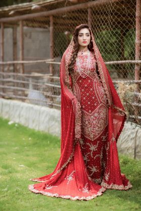 Bridal Maxi Gown by Zohaib Qadeer