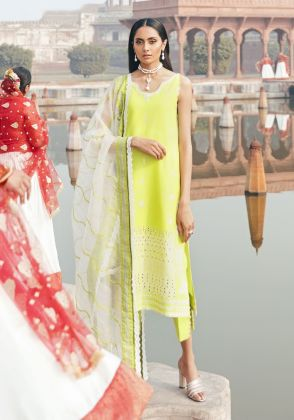 Mint Embroidered Unstitched Suit  by Panachē Luxury Lawn