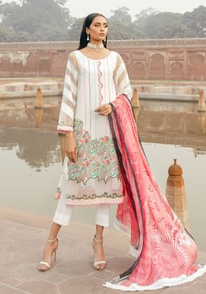 Ivory Embroidered Unstitched Suit  by Panachē Luxury Lawn