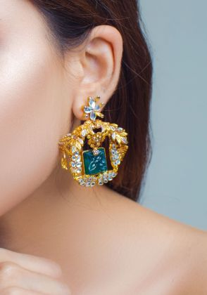 Engraved Vow Earrings by Rema Luxe