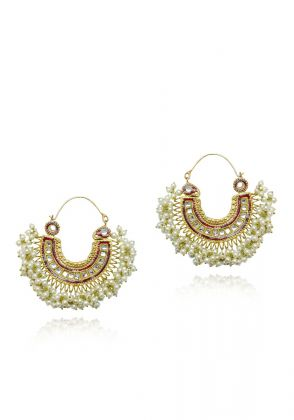 Red/Gold Hasli Earrings by Gorgeous Jew