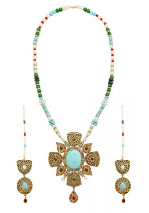 Multi Stones Feroza set by Gorgeous Jew