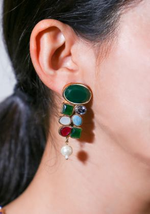 Multi Stone Earings by Gorgeous Jew
