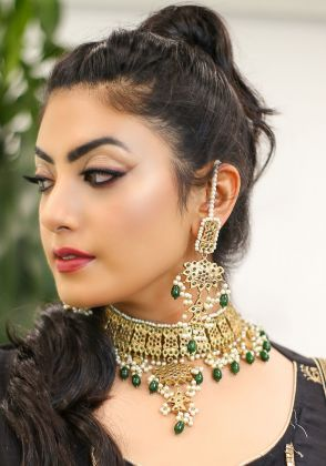 Gold Plated Emerald Earrings by Gorgeous Jew